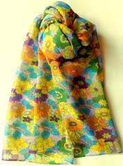 Floral silk scarf for ladies.