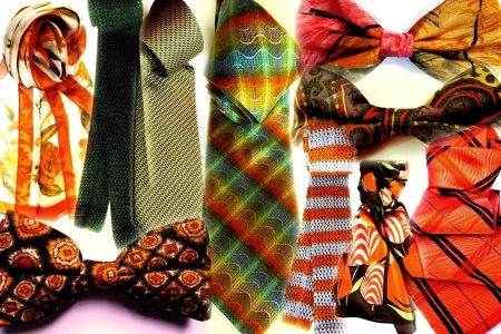 Silk ties, bow ties, knit ties, scarves