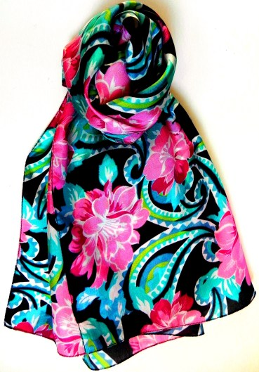 Ladies Floral Silk Scarf