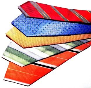 Prestigeous silk ties.