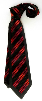 A black & red Silk tie.
