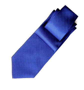 Blue silk tie, fashion accessories.
