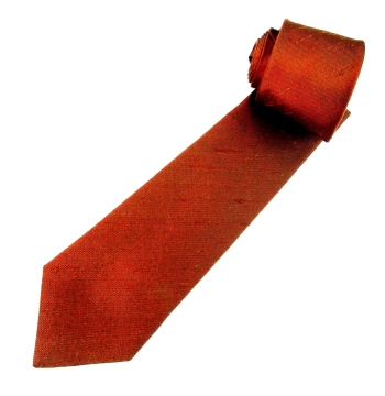 Solid colour silk ties.