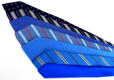 Silk Ties in blue.
