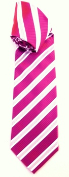 Stripes silk tie.