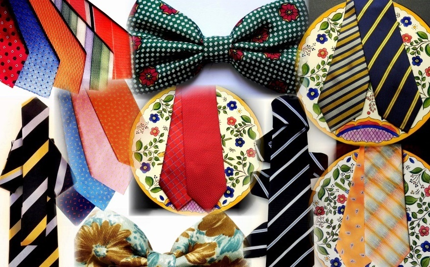 Silk ties, bow ties,