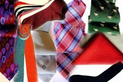 Silk Ties, Bow Ties, pocket squares, socks.