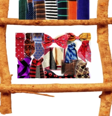Silk ties, bow ties, pocket squares, scarves.