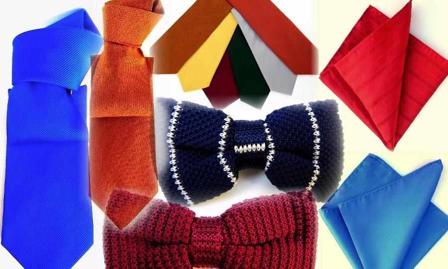 Silk ties, bow ties, pocket squares