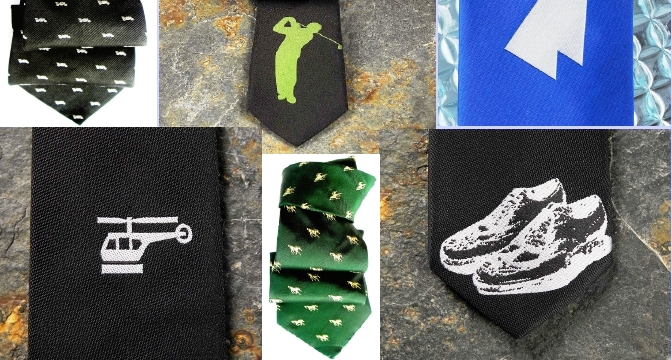 Silk ties, fashion accessories, shopping, sport.