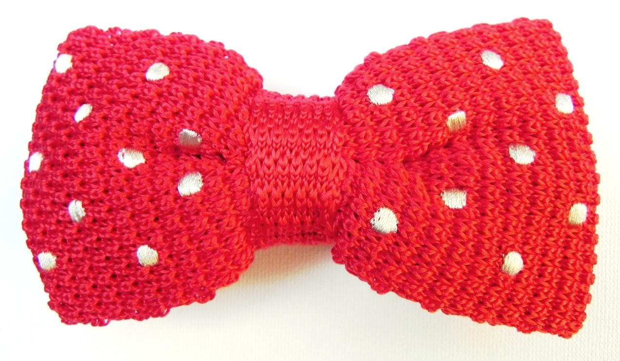Knit silk bow tie