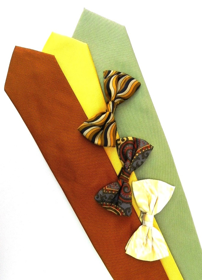 fashion. silk ties. bow ties, clothes accessories.