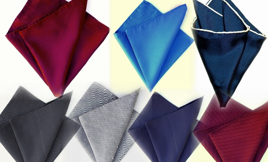 Silk pocket squares, silk ties, online shopping, silk clothes accessories.