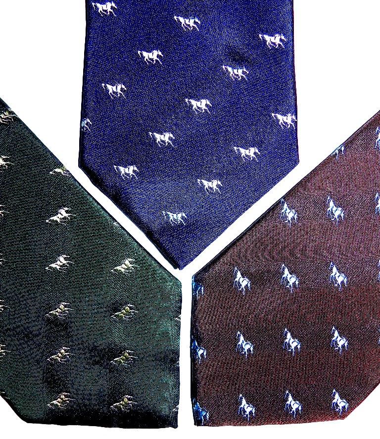 Theme silk ties, shop ties,