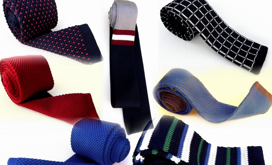 Fashion accessories store, silk ties, knit ties, bow ties, pocket squares, scarves.