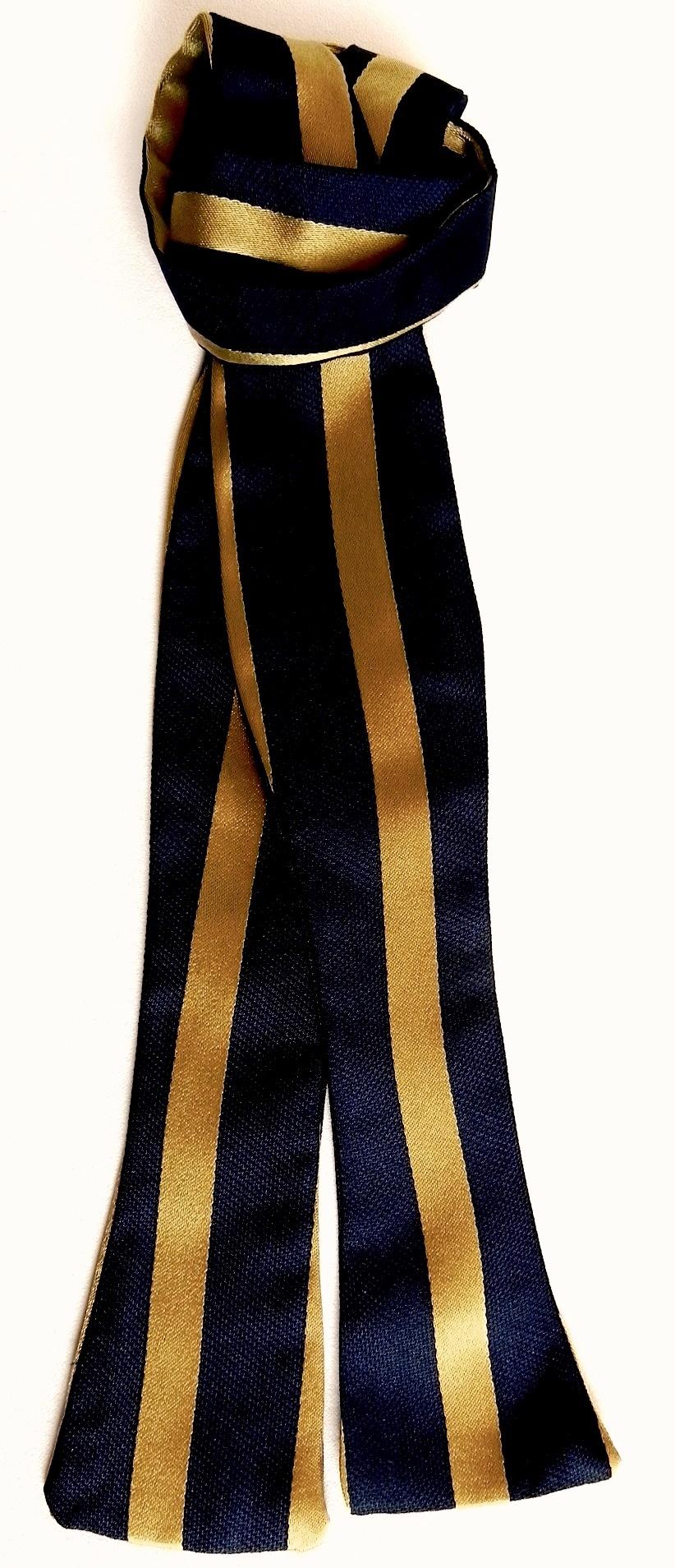 Silk ties, bow ties, pocket squares, scarves.